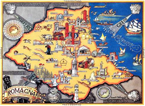 Cartina Geografica Emilia Romagna E Toscana.Quali Sono I Veri Confini Della Romagna Romagna Da Vivere